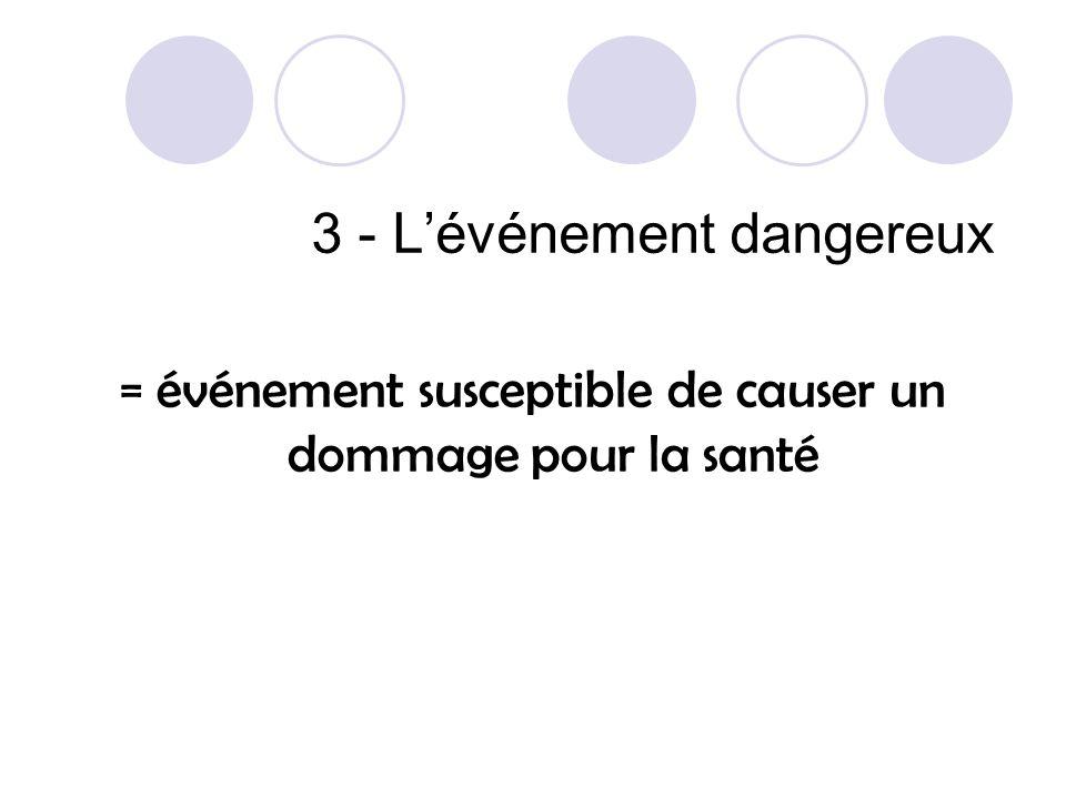 3 - L'événement dangereux