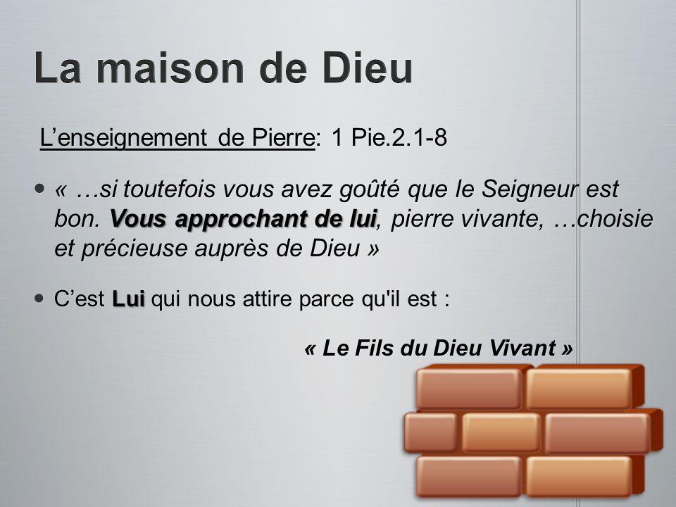 La maison de Dieu L'enseignement de Pierre: 1 Pie.2.1-8