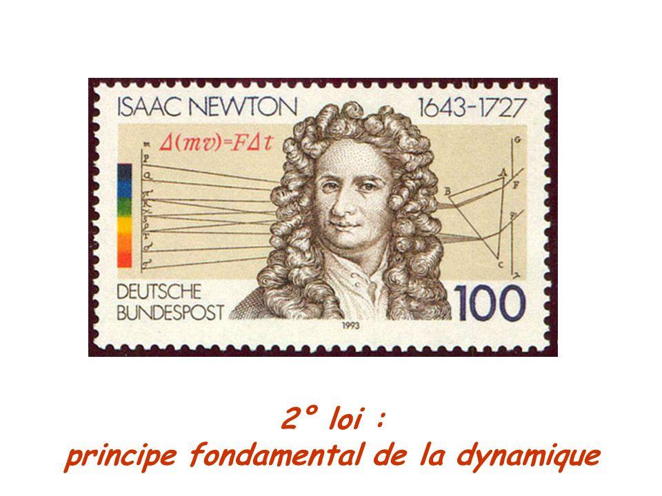 2° loi : principe fondamental de la dynamique