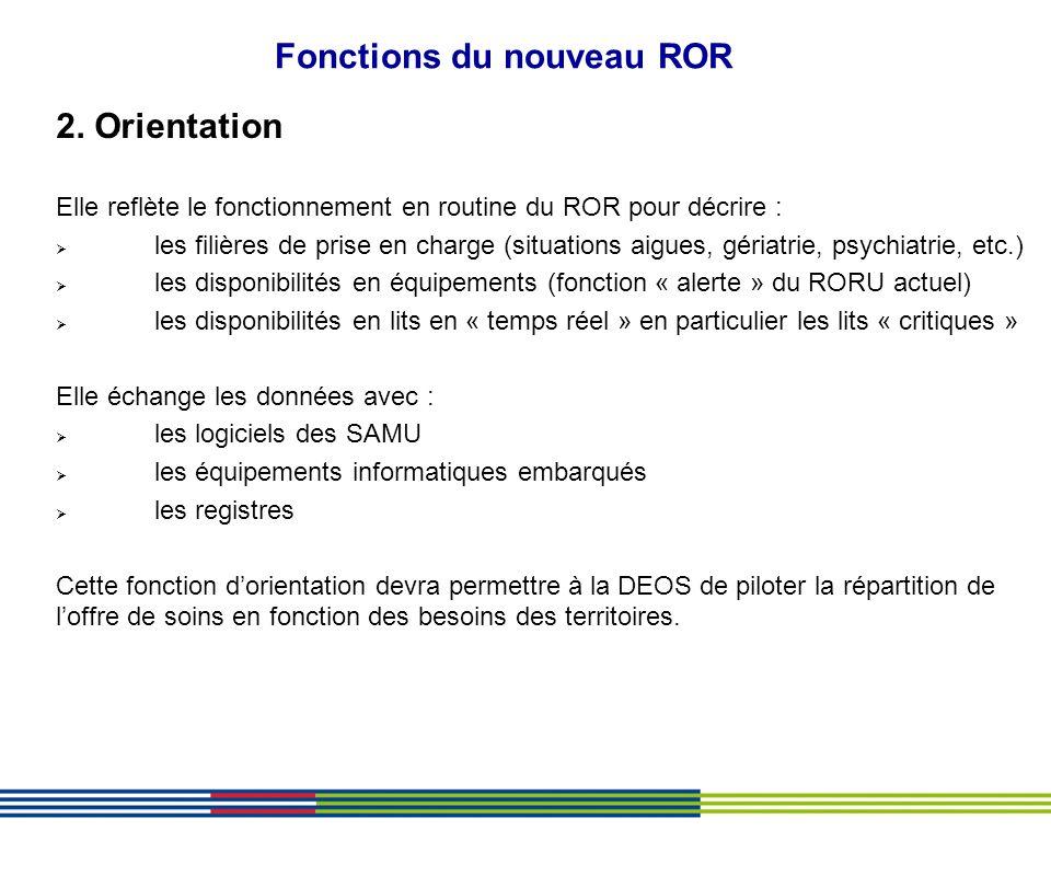 Fonctions du nouveau ROR