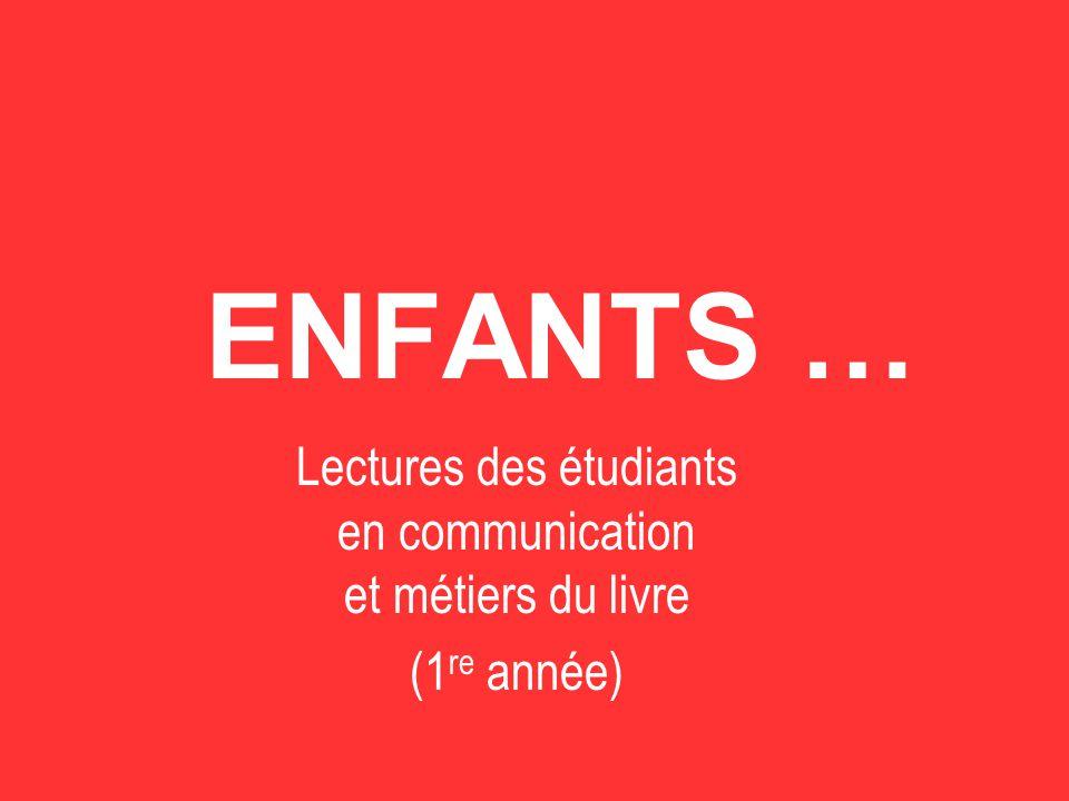 Lectures des étudiants en communication et métiers du livre