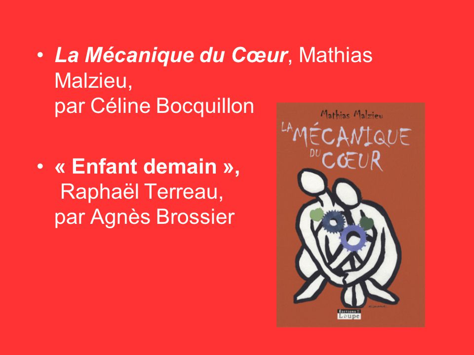 La Mécanique du Cœur, Mathias Malzieu, par Céline Bocquillon