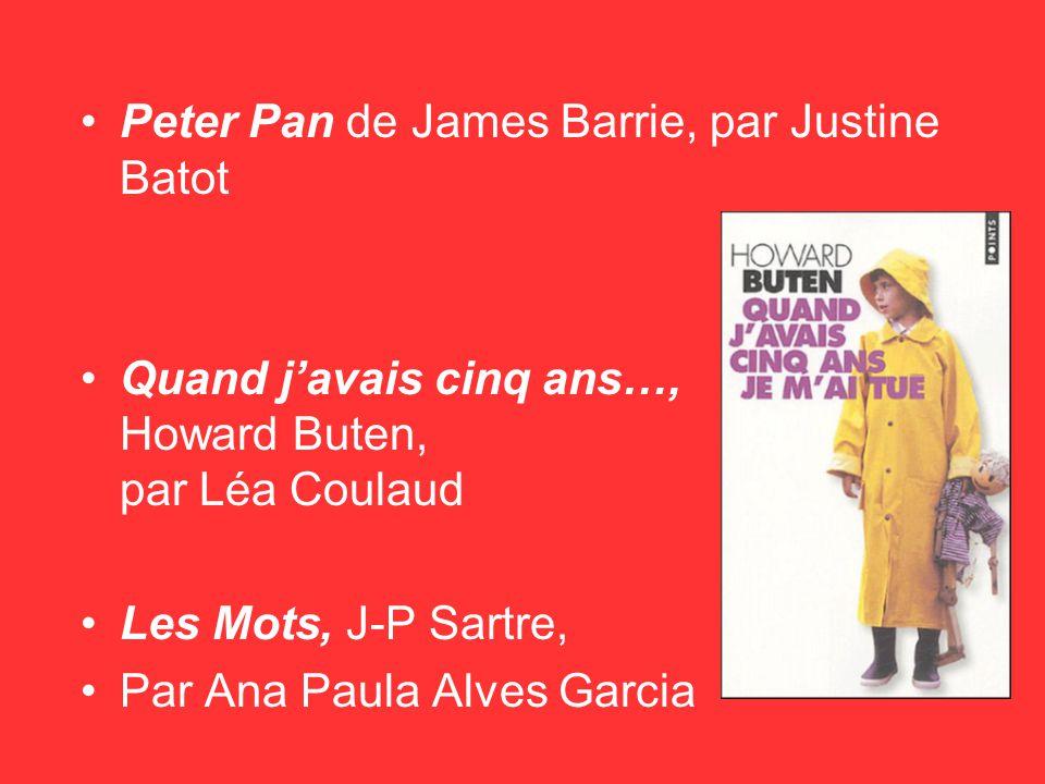 Peter Pan de James Barrie, par Justine Batot