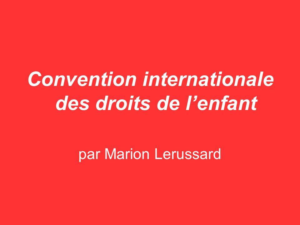 Convention internationale des droits de l'enfant
