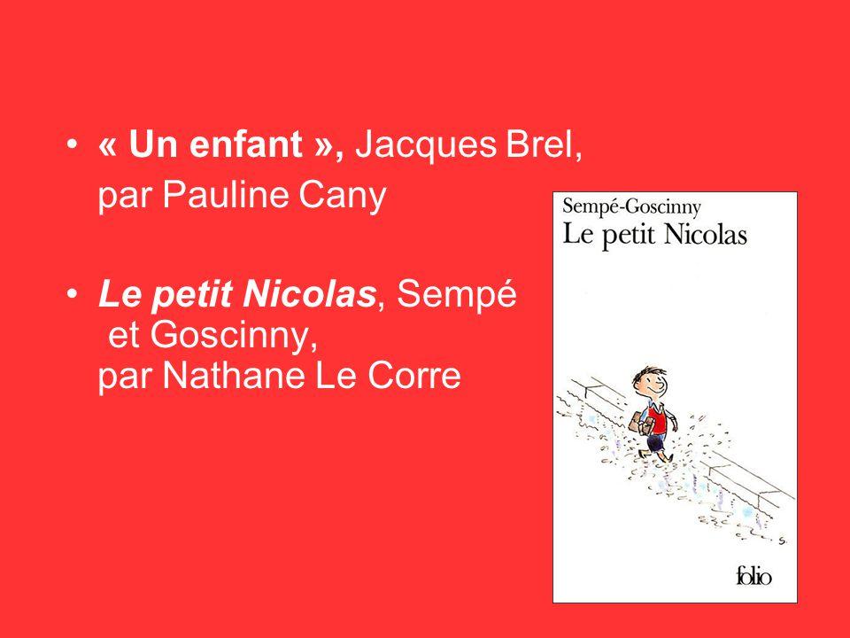 « Un enfant », Jacques Brel,