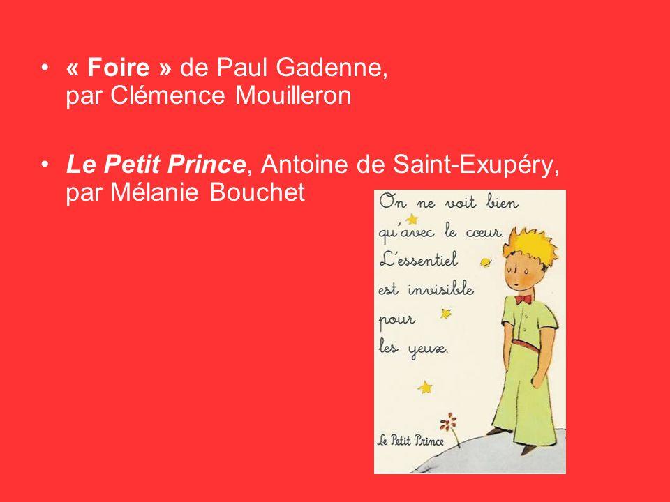 « Foire » de Paul Gadenne, par Clémence Mouilleron