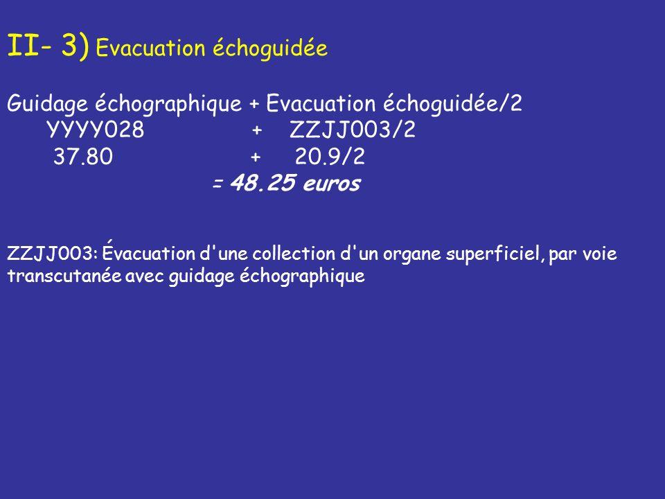 II- 3) Evacuation échoguidée