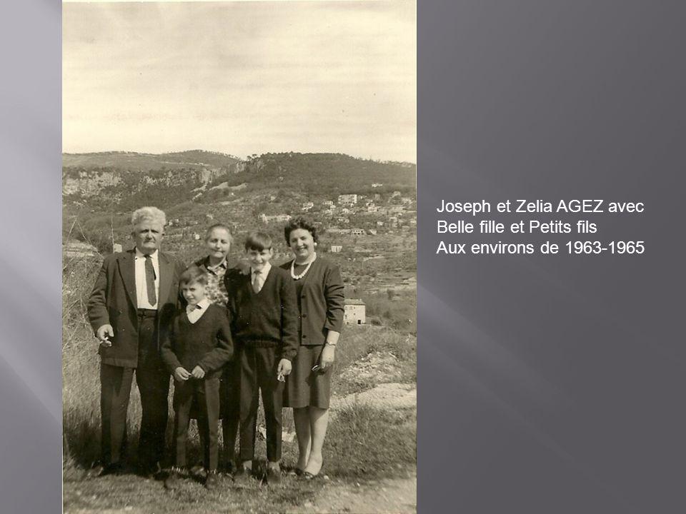 Joseph et Zelia AGEZ avec Belle fille et Petits fils