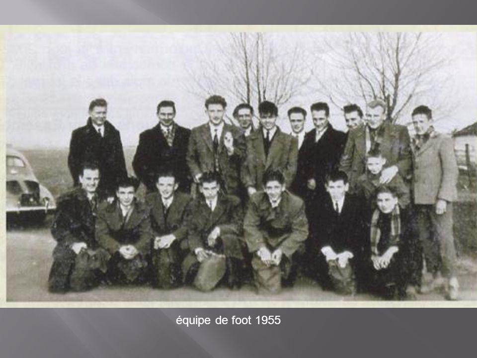 équipe de foot 1955