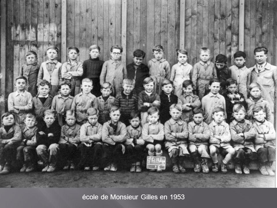 école de Monsieur Gilles en 1953