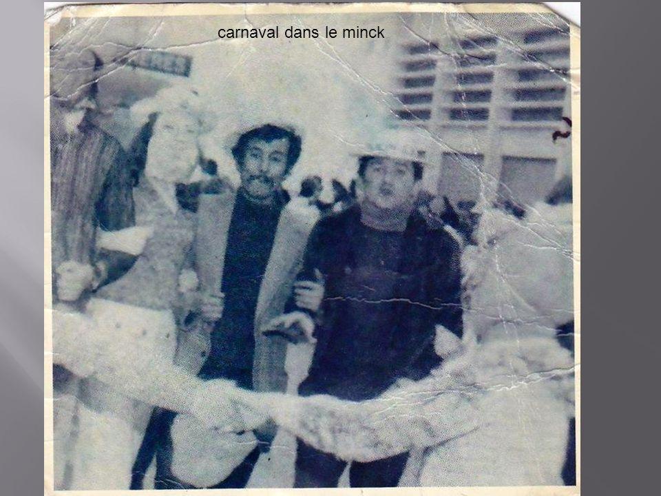 carnaval dans le minck
