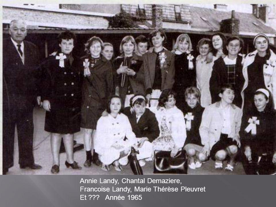 Annie Landy, Chantal Demaziere, Francoise Landy, Marie Thérèse Pleuvret Et Année 1965
