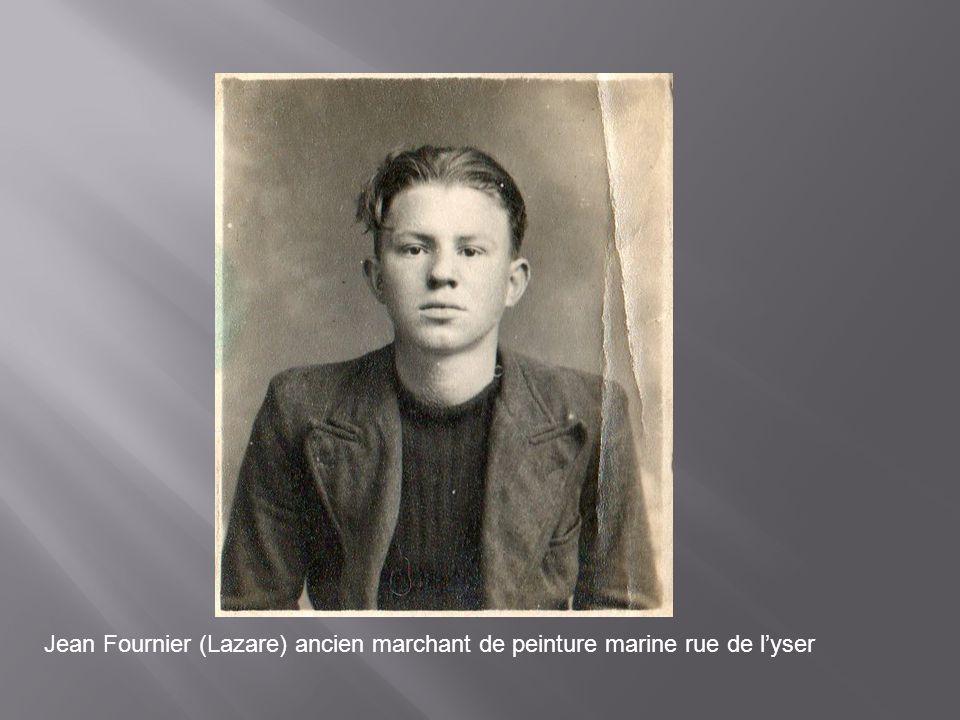 Jean Fournier (Lazare) ancien marchant de peinture marine rue de l'yser