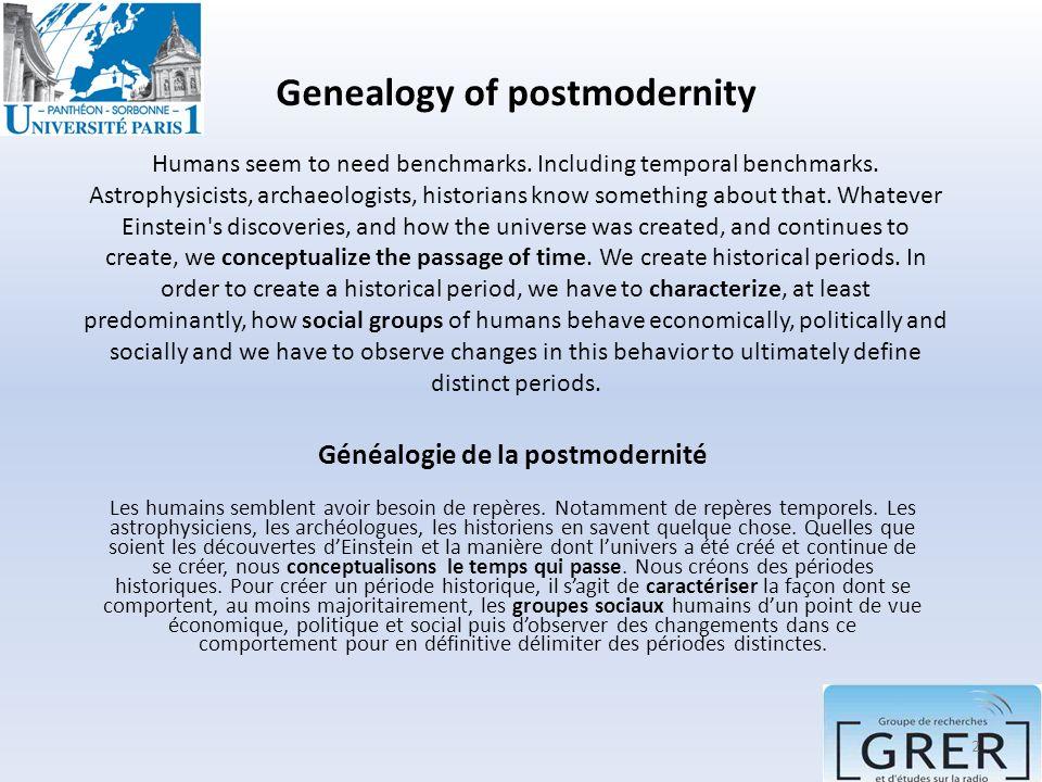Généalogie de la postmodernité