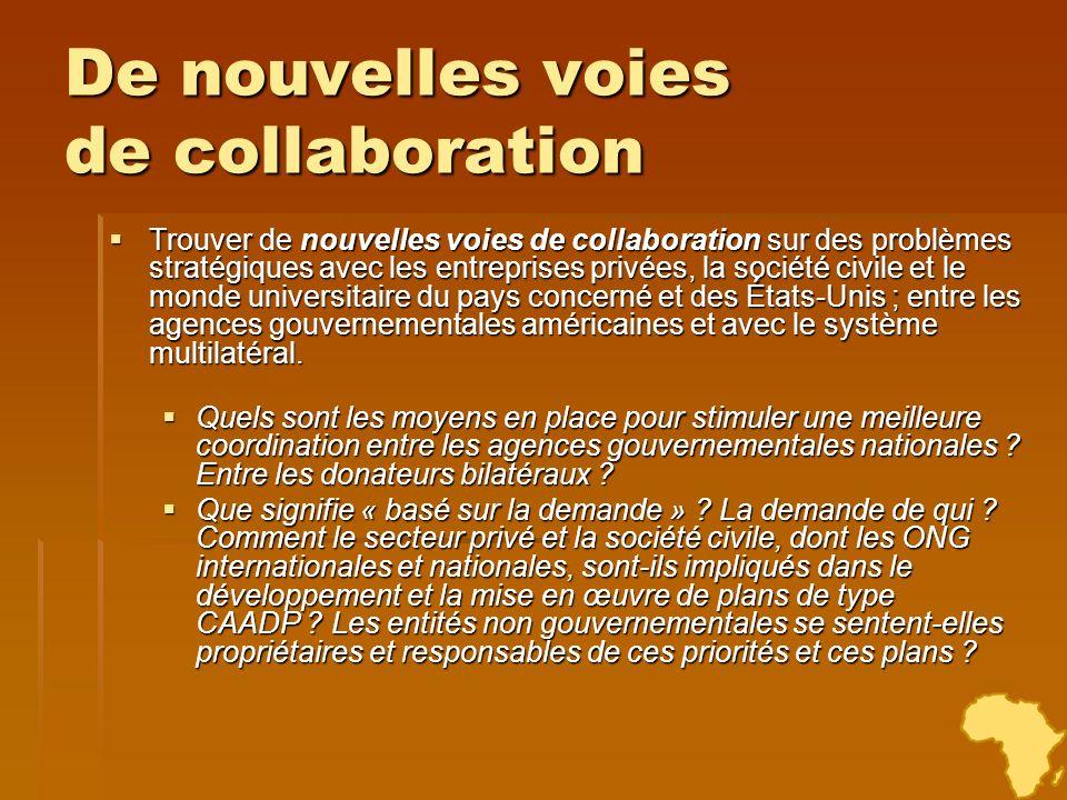 De nouvelles voies de collaboration