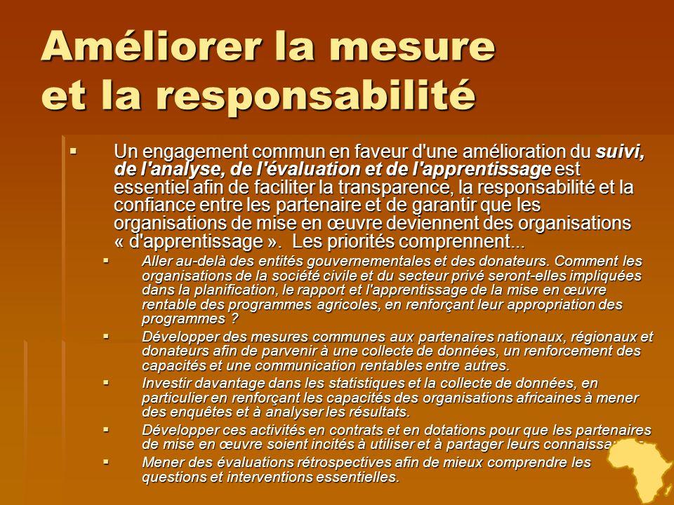 Améliorer la mesure et la responsabilité