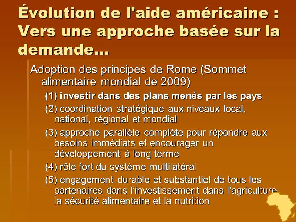 Évolution de l aide américaine : Vers une approche basée sur la demande...