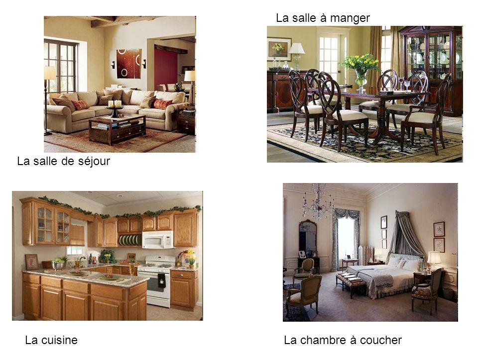 La salle à manger La salle de séjour La cuisine La chambre à coucher