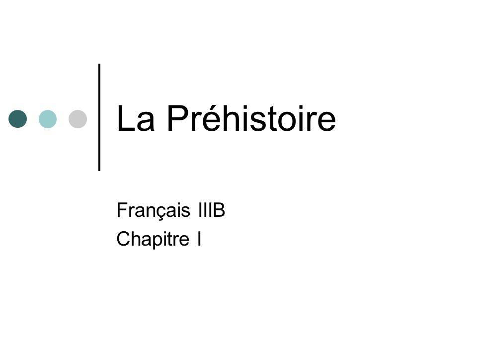 Français IIIB Chapitre I