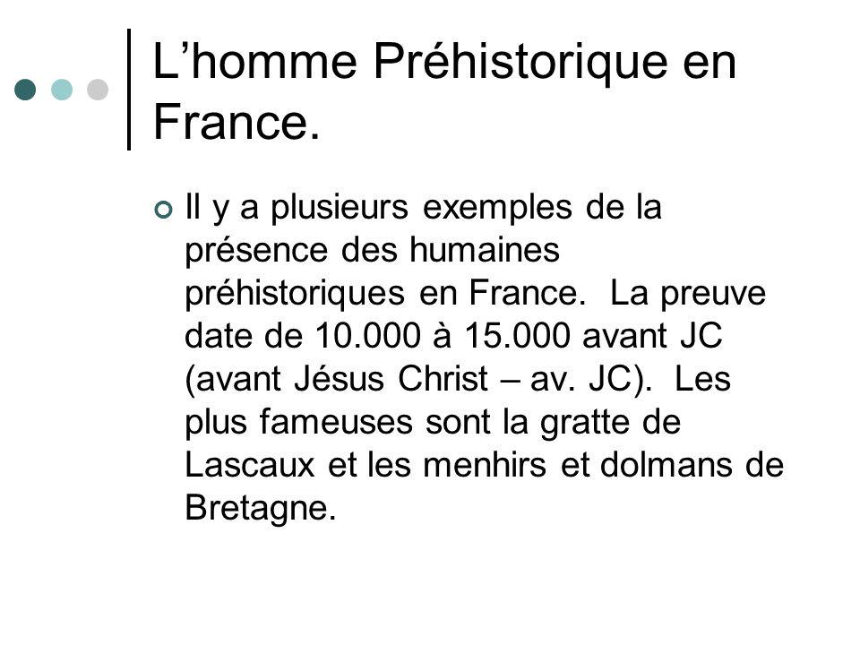 L'homme Préhistorique en France.