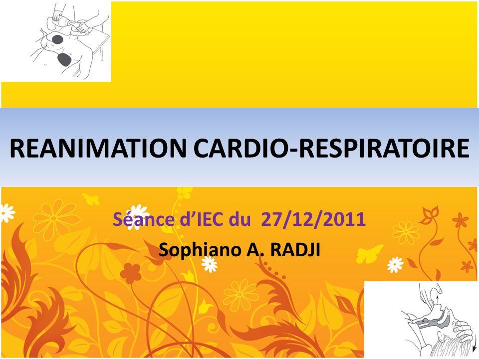 REANIMATION CARDIO-RESPIRATOIRE