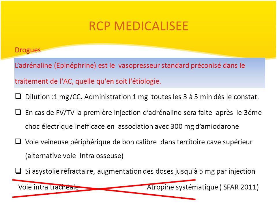 RCP MEDICALISEE Drogues