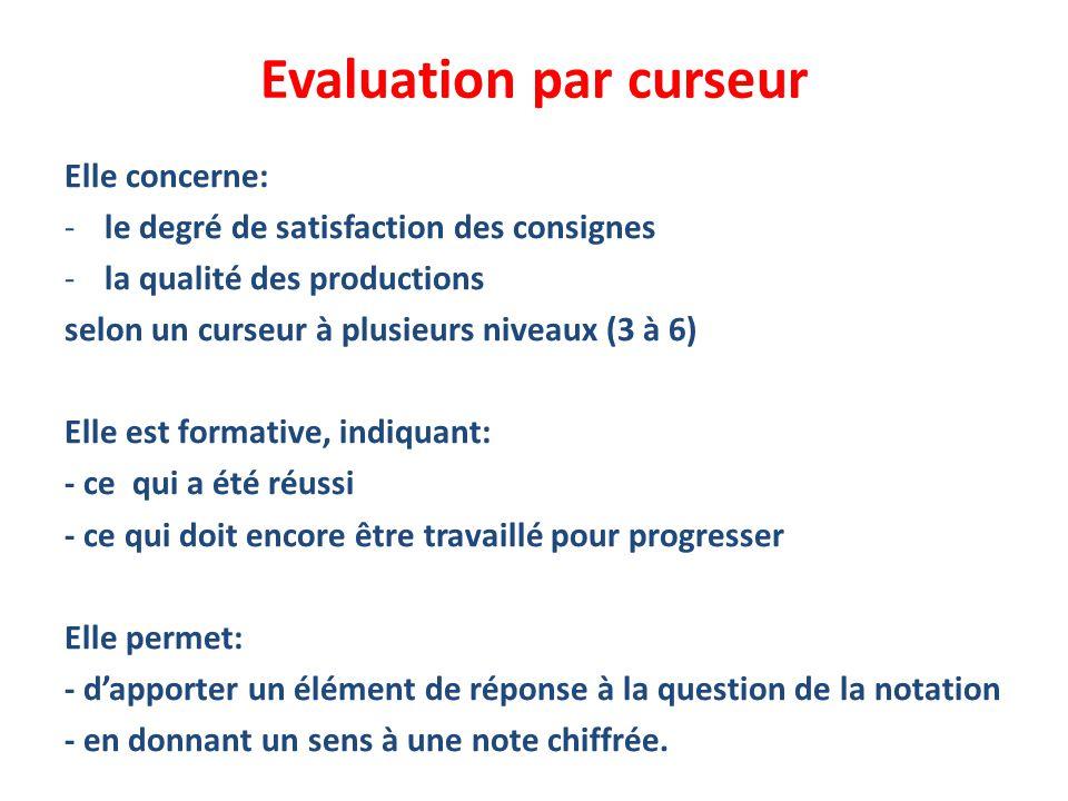 Evaluation par curseur