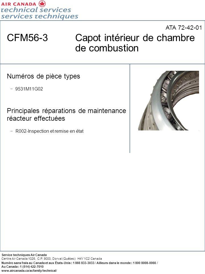 CFM56-3 Capot intérieur de chambre de combustion