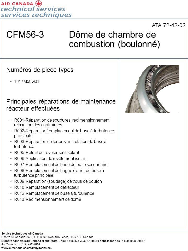 CFM56-3 Dôme de chambre de combustion (boulonné)