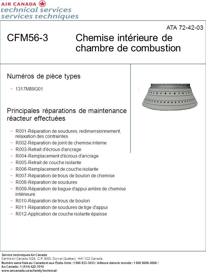 CFM56-3 Chemise intérieure de chambre de combustion