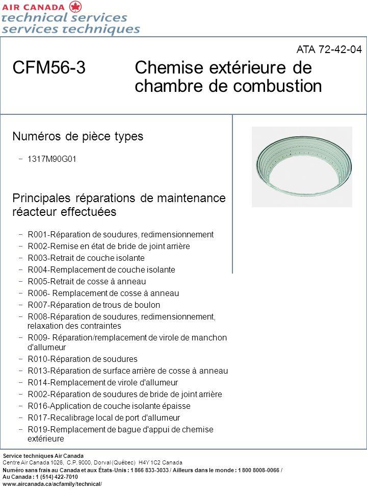 CFM56-3 Chemise extérieure de chambre de combustion
