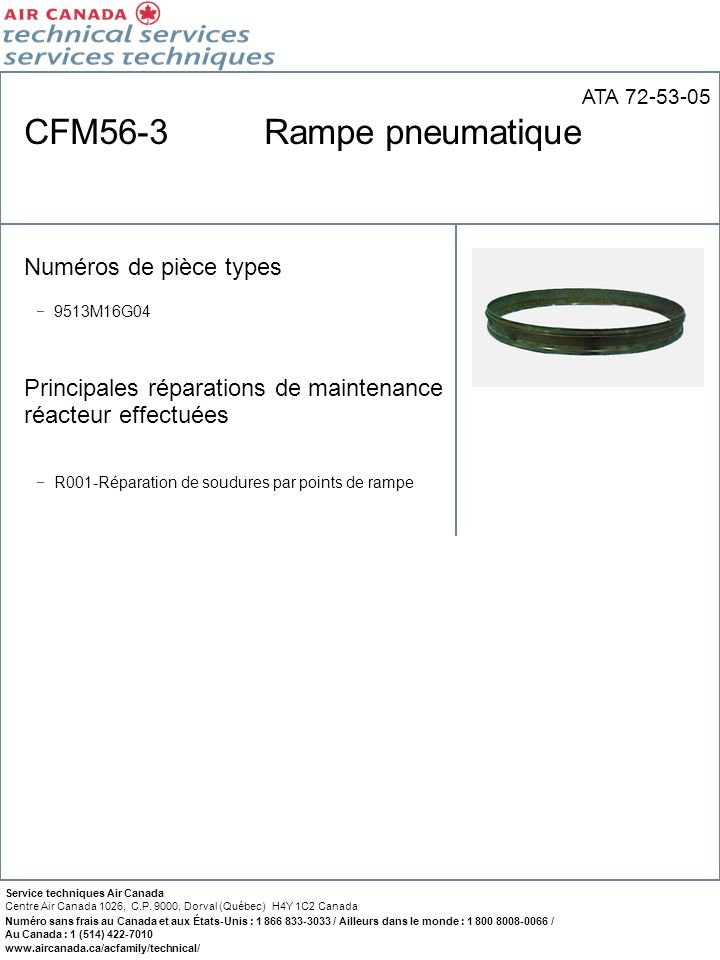 CFM56-3 Rampe pneumatique