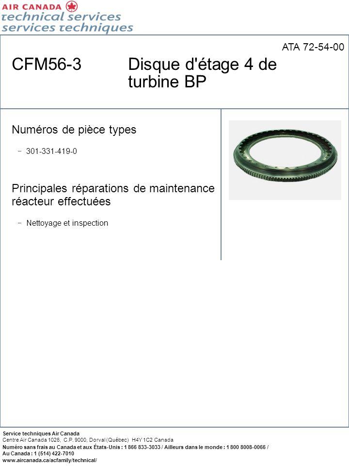 CFM56-3 Disque d étage 4 de turbine BP