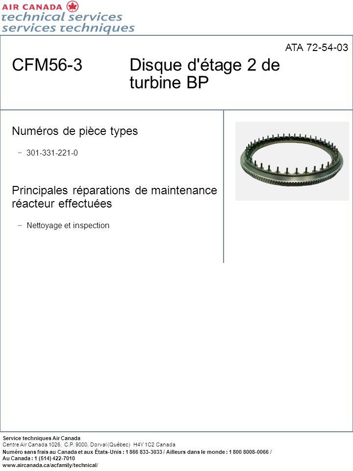 CFM56-3 Disque d étage 2 de turbine BP
