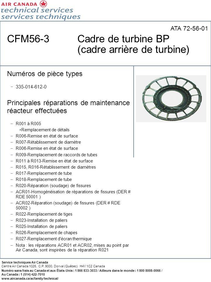 CFM56-3 Cadre de turbine BP (cadre arrière de turbine)