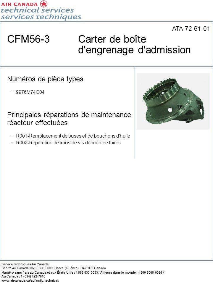 CFM56-3 Carter de boîte d engrenage d admission