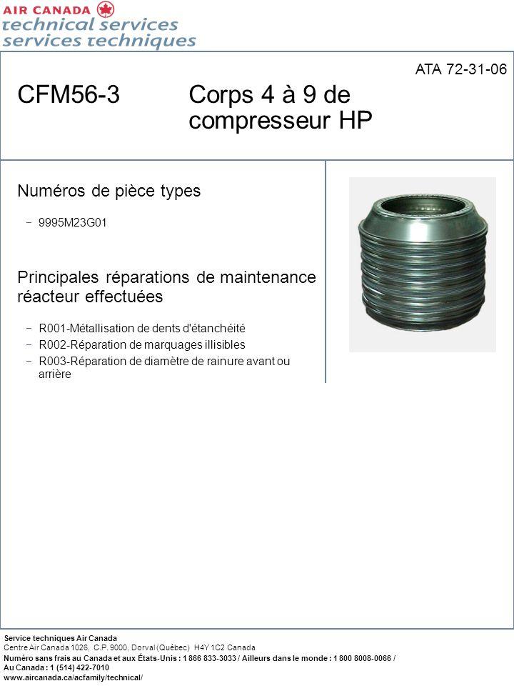 CFM56-3 Corps 4 à 9 de compresseur HP