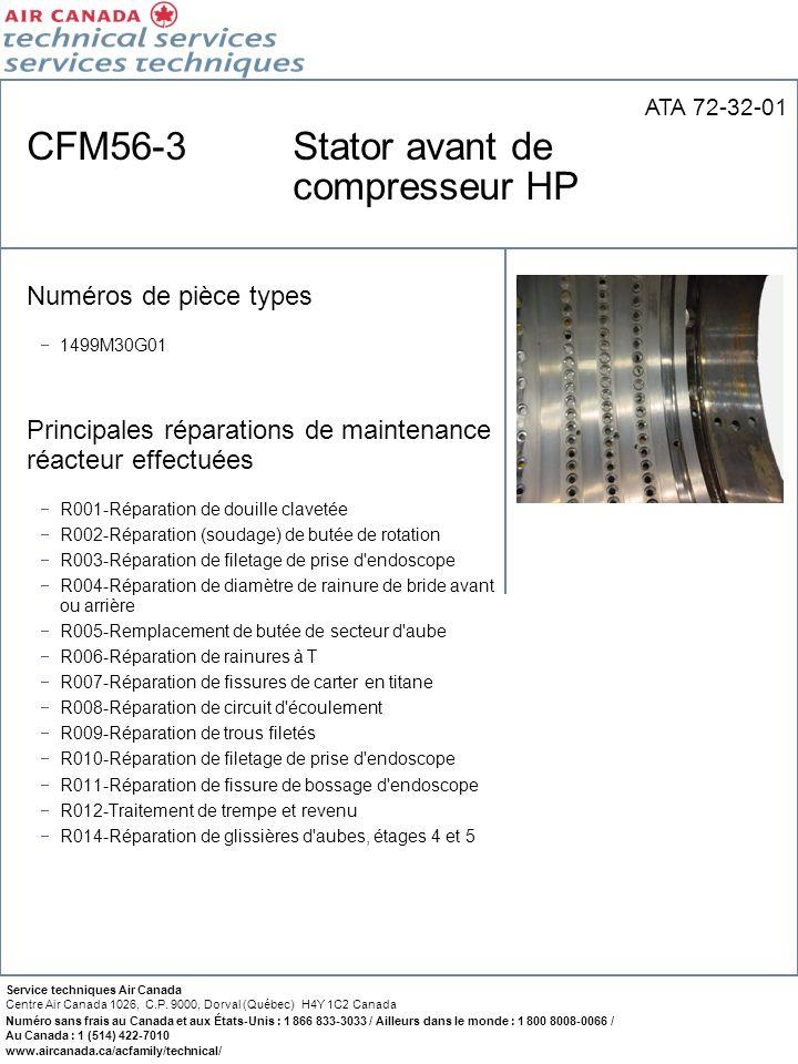 CFM56-3 Stator avant de compresseur HP