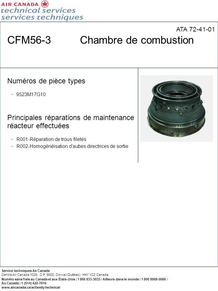 CFM56-3 Chambre de combustion