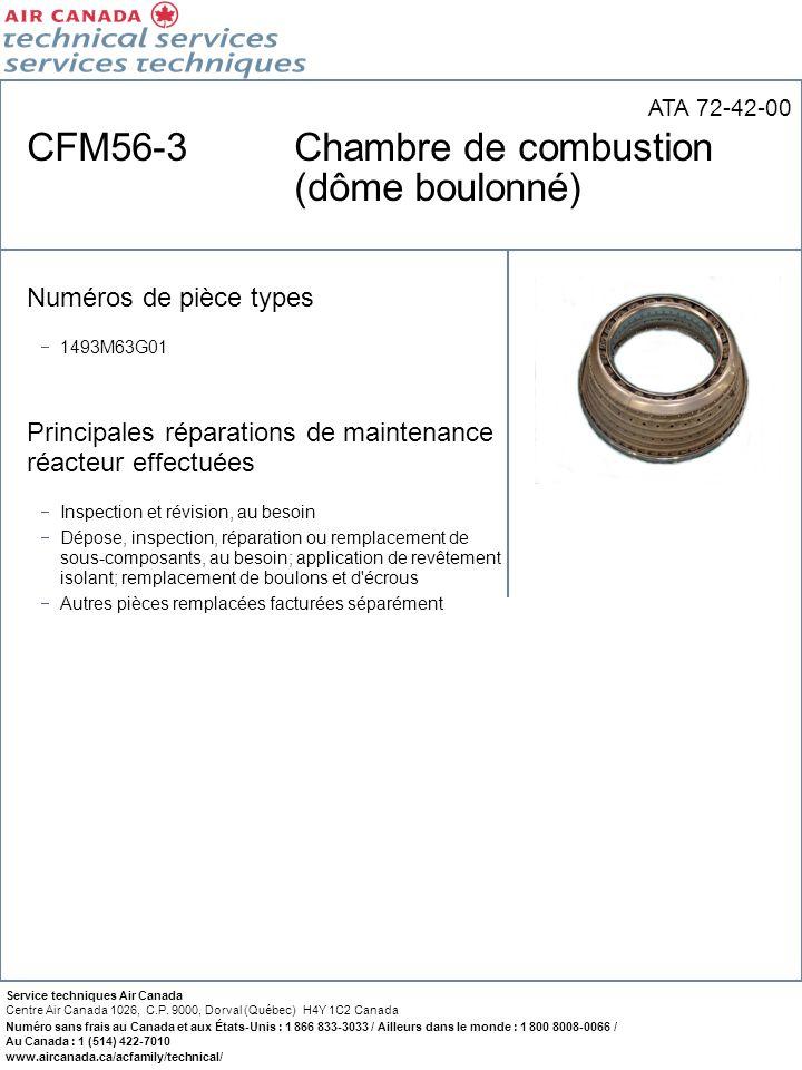 CFM56-3 Chambre de combustion (dôme boulonné)