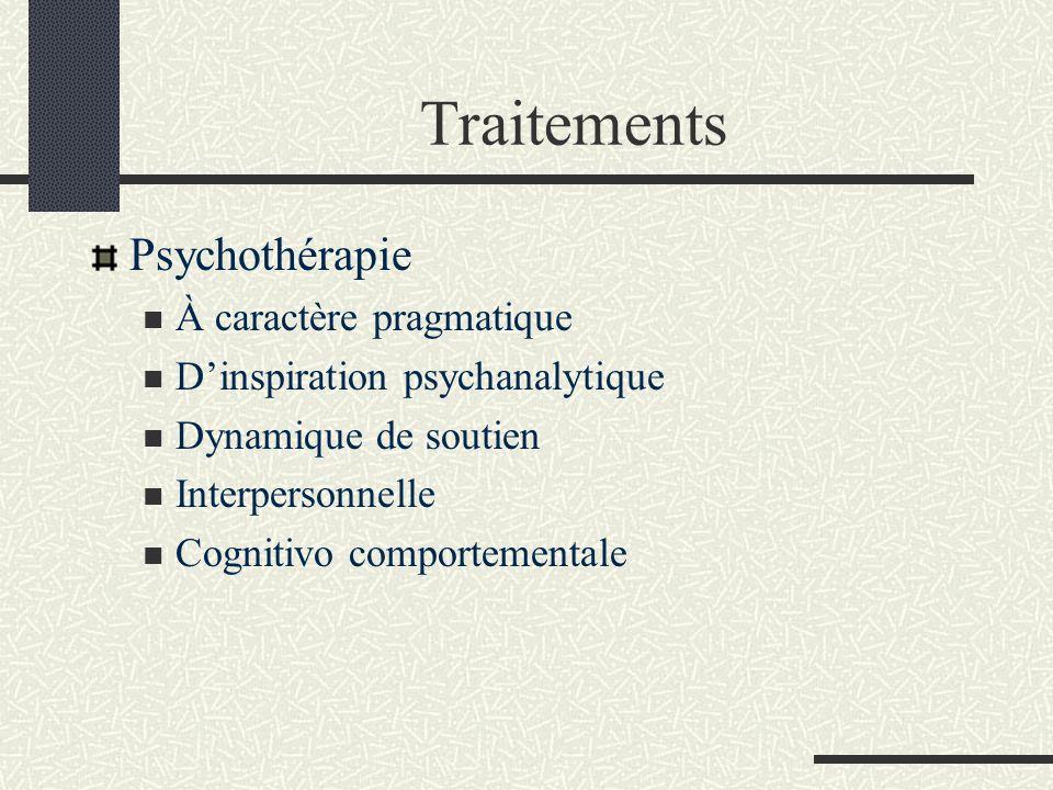 Traitements Psychothérapie À caractère pragmatique
