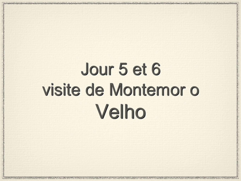 Jour 5 et 6 visite de Montemor o Velho