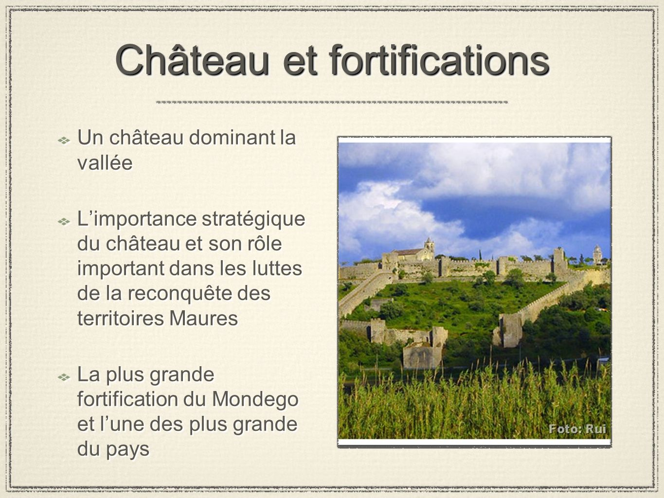Château et fortifications