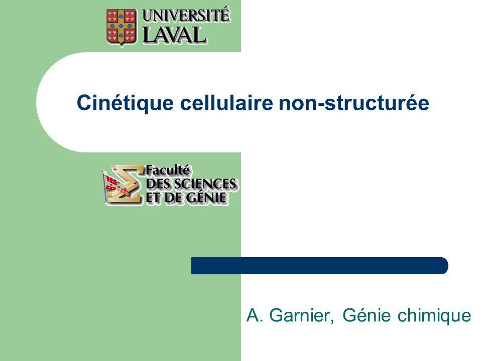 Cinétique cellulaire non-structurée