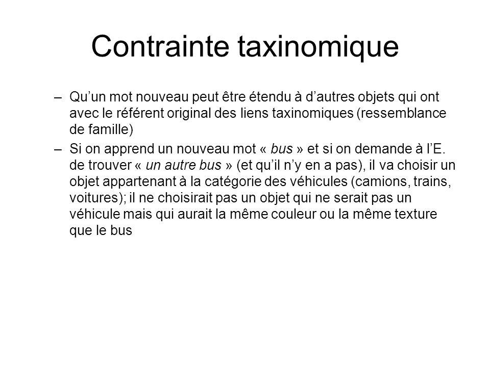 Contrainte taxinomique