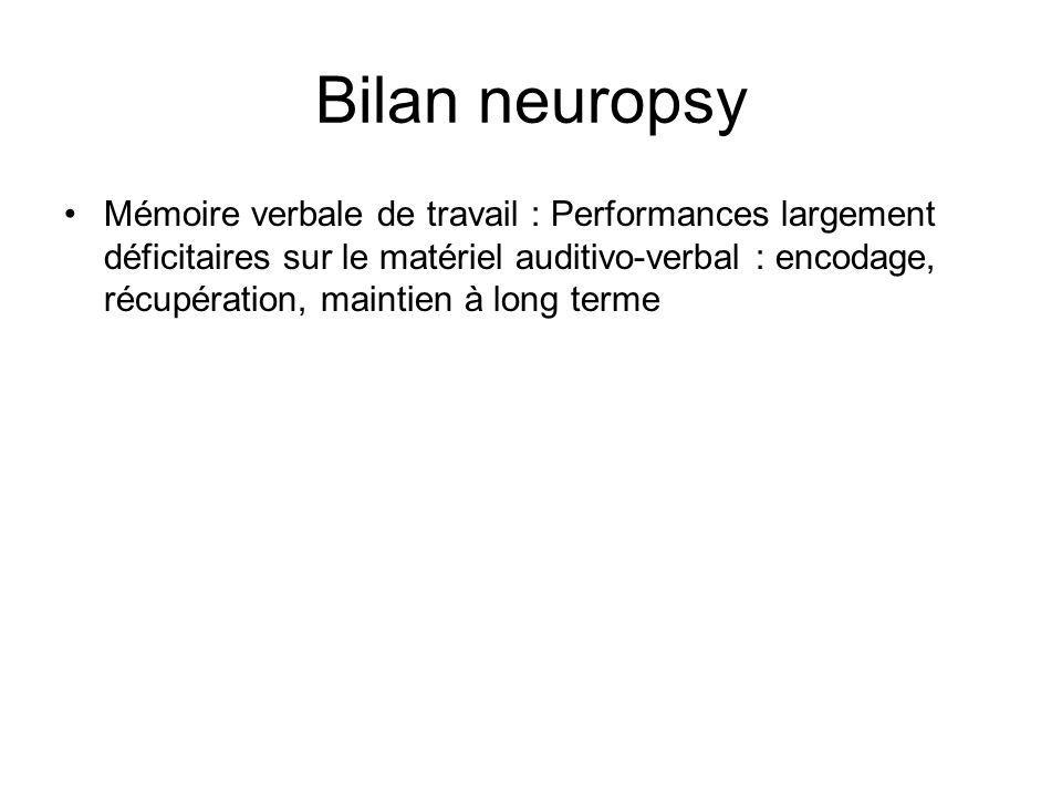 Bilan neuropsy