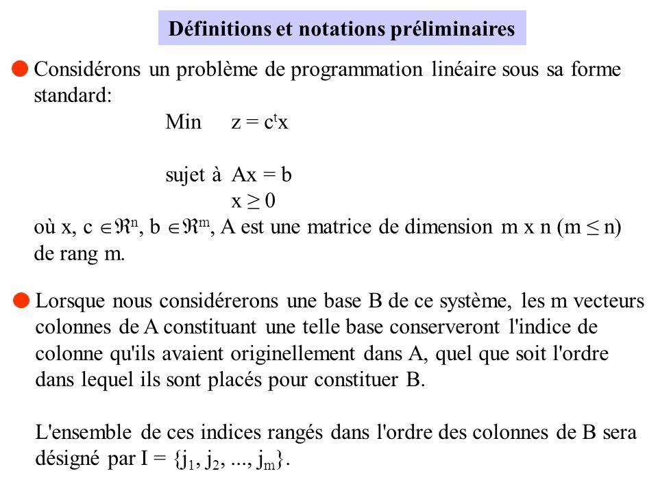 Définitions et notations préliminaires