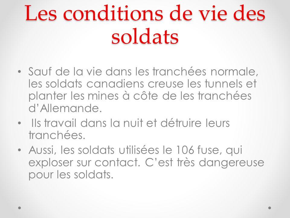 Les conditions de vie des soldats