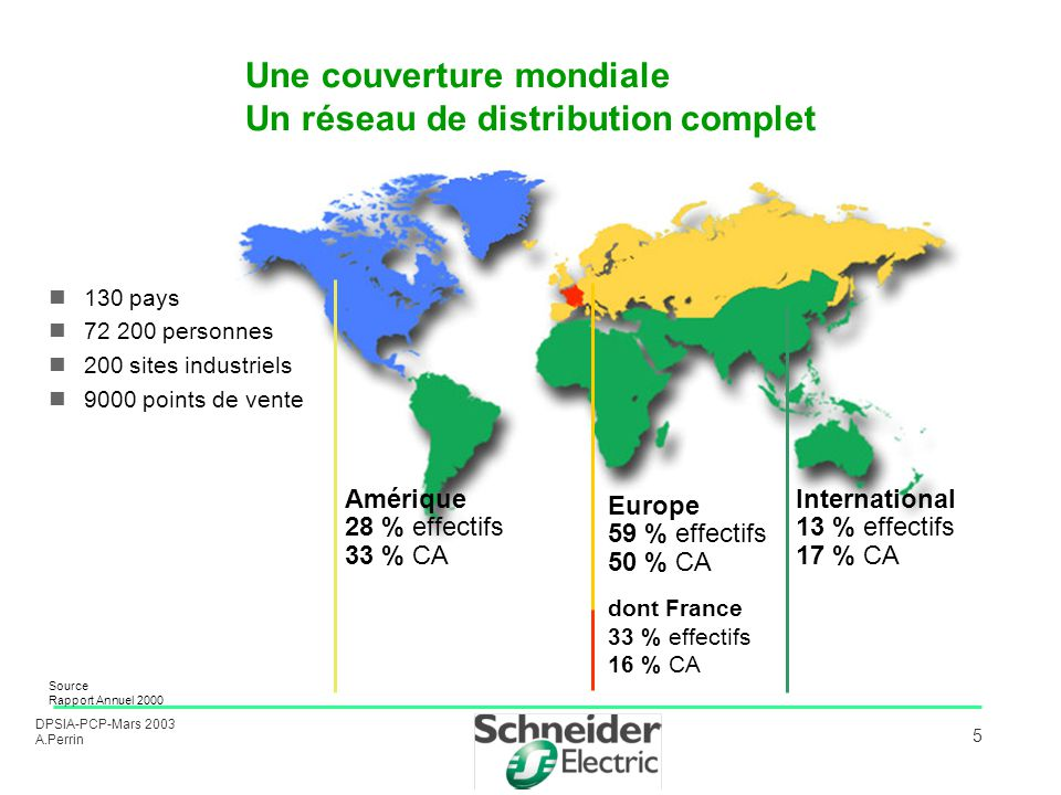 Une couverture mondiale Un réseau de distribution complet