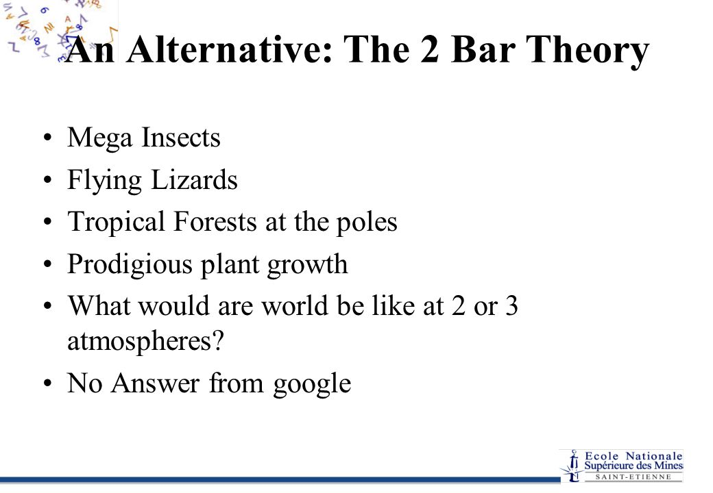 An Alternative: The 2 Bar Theory